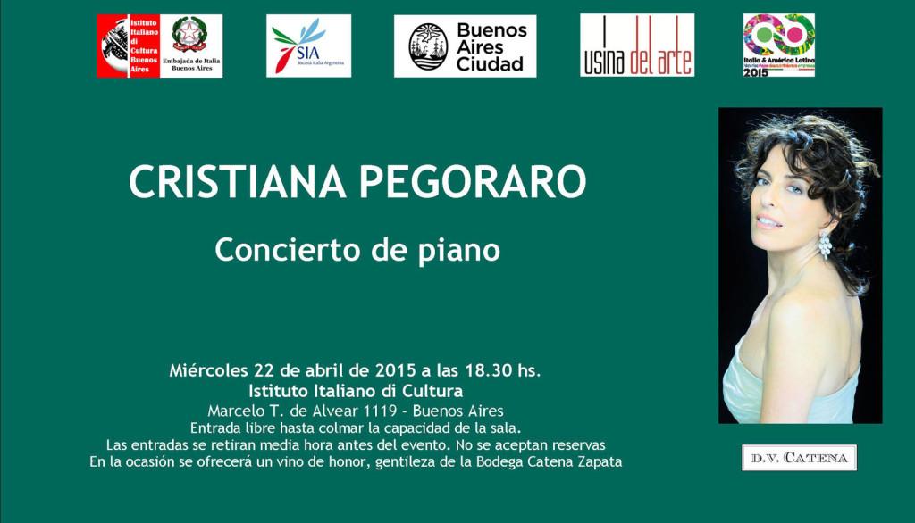 Cristiana pegoraro next concert buenos aires april 22 for Hoteles en marcelo t de alvear buenos aires