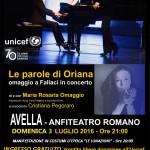 Manifesto-LE PAROLE DI ORIANA-Avella-3 luglio